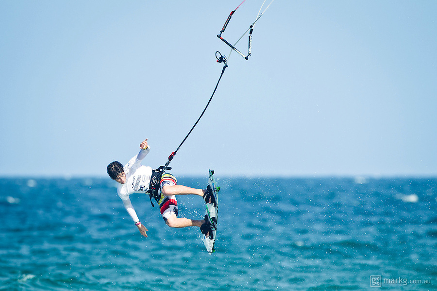 The last leg of the 2010 PKRA World Kiteboarding Tour has come to the Gold Coast, Australia - even the 2010 World Champion miss handle passes...