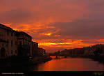 Sunrise over the Arno Ponte alle Grazie Florence