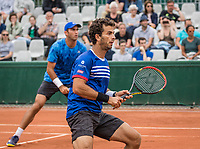Paris, France, 3 June, 2017, Tennis, French Open, Roland Garros, Men's doubles Horia Tecau (ROU) / Jean-Julien Rojer (NED) (R)<br /> Photo: Henk Koster/tennisimages.com