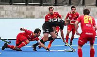 Dylan Thomas during the Pro League Hockey match between the Blacksticks men and the Spain, Nga Punawai, Christchurch, New Zealand, Sunday 16 February 2020. Photo: Simon Watts/www.bwmedia.co.nz