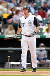 10 September 2006: Garrett Atkins, third baseman for the Colorado Rockies, in action against the Washington Nationals. The Rockies defeated the Nationals 13-9 at Coors Field in Denver, Colorado...Mandatory Photo Credit: Ed Wolfstein.