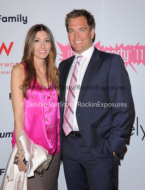 Michael Weatherly and wife attends The 7th Annual Pink Party held at Drai's Hollywood in Hollywood, California on September 10,2011                                                                               © 2011 DVS / Hollywood Press Agency