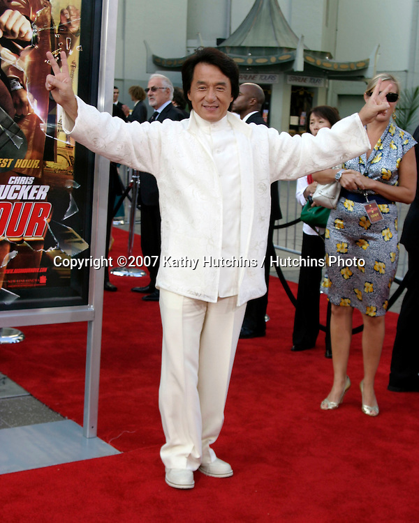 "Jackie Chan.""Rush Hour 3"" Premiere.Grauman's Chinese.Los Angeles, CA.July 30, 2007.©2007 Kathy Hutchins / Hutchins Photo...."