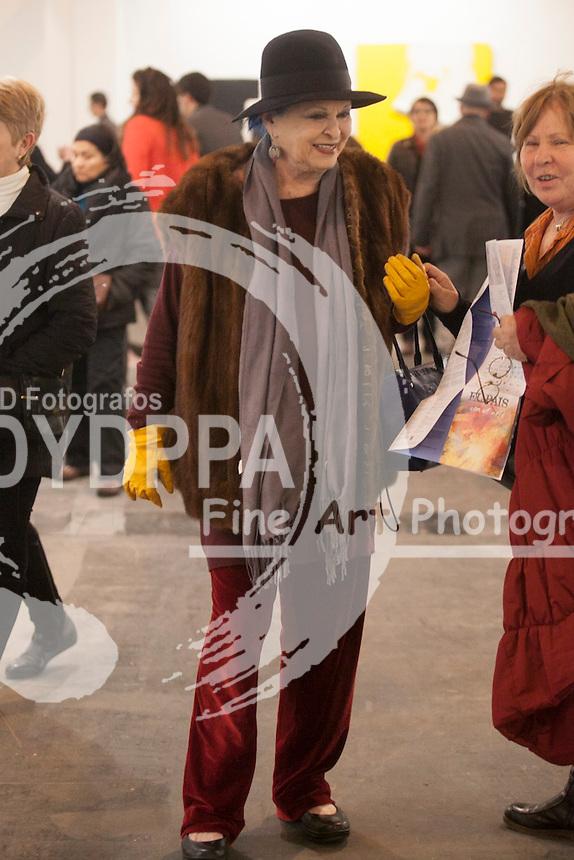 Feria Internacional de Arte Contemporáneo, ARCOmadrid, Lucia Bose visitando la feria Madrid, España 20 febreo 2014 Ifema (C) Nacho Lopez/DyD Fotografos