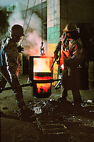 Molten Bronze, Foundry, Philadelphia, Pennsylvania. Philadelphia Pennsylvania USA foundry.