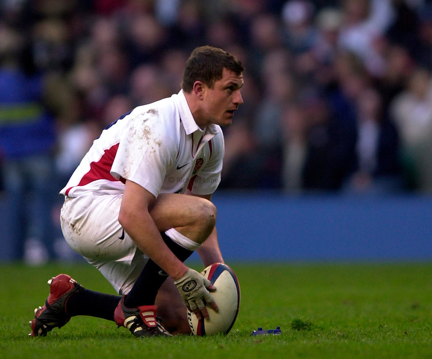 Photo. Richard Lane.England v Scotland. RBS Six Nations Chamionship. 22/03/2003.Paul Grayson