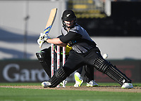 Colin Munro.<br /> New Zealand Black Caps v Australia.Tri-Series International Twenty20 cricket final. Eden Park, Auckland, New Zealand. Wednesday 21 February 2018. &copy; Copyright Photo: Andrew Cornaga / www.Photosport.nz