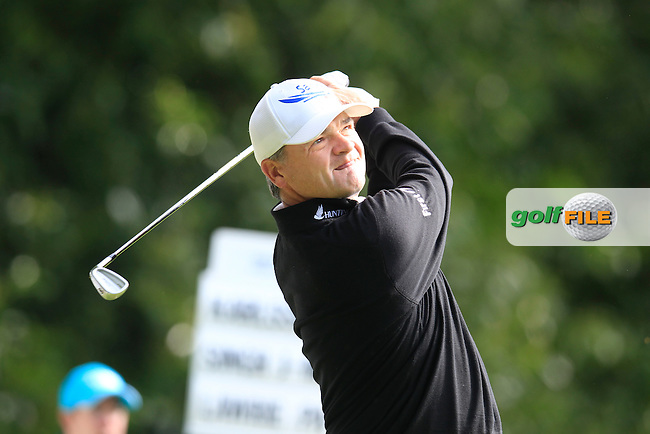 Paul LAWRIE (SCO) during round 1 of the 2015 BMW PGA Championship over the West Course at Wentworth, Virgina Water, London. 21/05/2015<br /> Picture Fran Caffrey, www.golffile.ie: