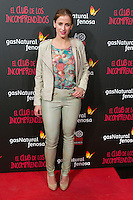 "Sara Ballesteros attend the Premiere of the movie ""El club de los incomprendidos"" at callao Cinema in Madrid, Spain. December 1, 2014. (ALTERPHOTOS/Carlos Dafonte) /NortePhoto<br />