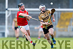 Jack Goulding Kerry in action against Cathal Freeman Mayo in the 2019 Hurling League Division 2a Round 3 at Austin Stack Park in Tralee, on Sunday.