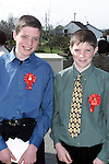 Eoin Lennon and Peter Osbourne from Ardee who were confirmed in Reaghstown Church..Picture Paul Mohan Newsfile