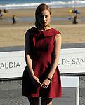 "Canadian actress Sarah Gadon poses to promote her film ""Enemy"" during the 61st San Sebastian International Film Festival in Donostia - San Sebastian on September 21, 2013, Basque Country. ( Ander Gillenea / Bostok Photo )"
