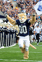 Sept. 19, 2009; Provo, UT, USA; BYU Cougars mascot prior to the game against the Florida State Seminoles at LaVell Edwards Stadium. Florida State defeated BYU 54-28. Mandatory Credit: Mark J. Rebilas-
