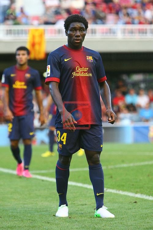 Dongou Tsafack. FC Barcelona B vs CE Sabadell: 2-0 - LFP League Adelante 2012/13 - Game: 3