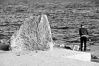 Castro Marina - Salento - Puglia - Pescatore intento a pescare nel mare di Castro.