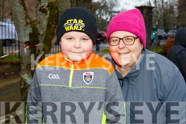 Sean and Jo Kenny from Ballyheigue attending the Junior Parkrun in the Tralee Town park on Sunday morning last.