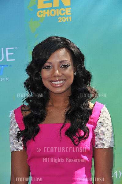 Tiffany Hines at the 2011 Teen Choice Awards at the Gibson Amphitheatre, Universal Studios, Hollywood..August 7, 2011  Los Angeles, CA.Picture: Paul Smith / Featureflash