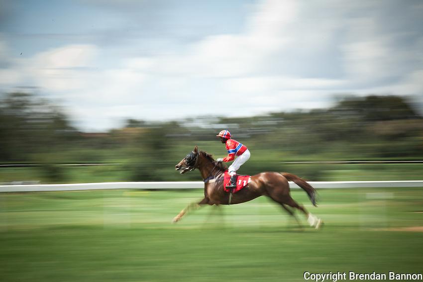 Jockey J.Lokorian riding Kimberly on derby day at Ngong Racecourse.
