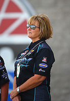 Apr 10, 2015; Las Vegas, NV, USA; NHRA sponsor Terry Gray during qualifying for the Summitracing.com Nationals at The Strip at Las Vegas Motor Speedway. Mandatory Credit: Mark J. Rebilas-