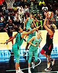 September 4, 2019: In WNBA action, the Washington Mystics improved to a league best 24-8 defeating the New York Liberty 93-77 led by Elana Delle Donne's 30 points.  The game was at the Westchester County Center in White Plains, New York. Heary/Eclipse Sportswire/CSM