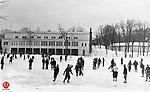 Ice skating in Hamilton Park, 1933.