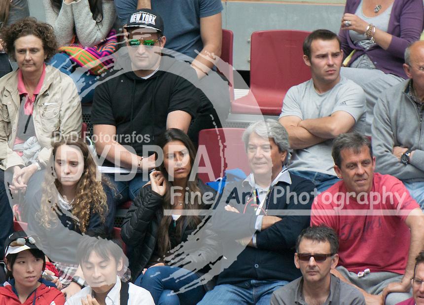 Verdasco's girlfriend Ana Boyer Preysler (Ana is Enrique Iglesias' sister in law)