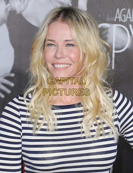 Chelsea Handler.The L.A Premiere of 'This Means War' held at The Grauman's Chinese Theatre in Hollywood, California, USA..February 8th, 2012.headshot portrait white blue striped stripes .CAP/RKE/DVS.©DVS/RockinExposures/Capital Pictures.