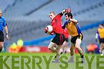Kevin O'Sullivan Kenmare in Action against Eoin Fenton  Ballinasloe in the Junior All Ireland Club Final in Croke park on Sunday.