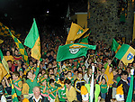 Large Crowds gathered in Kentstown on Tuesday night for home coming of the Meath Team.Pic Newsfile