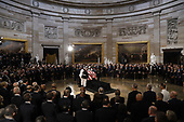 Body bearers place the casket of late U.S. Senator John McCain inside the U.S. Capitol Rotunda in Washington, U.S., August 31, 2018. REUTERS/Kevin Lamarque