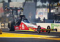 Mar 16, 2018; Gainesville, FL, USA; NHRA top fuel driver Doug Kalitta during qualifying for the Gatornationals at Gainesville Raceway. Mandatory Credit: Mark J. Rebilas-USA TODAY Sports