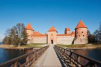 Bridge to Trakai island Castle, Trakai, Lithuania