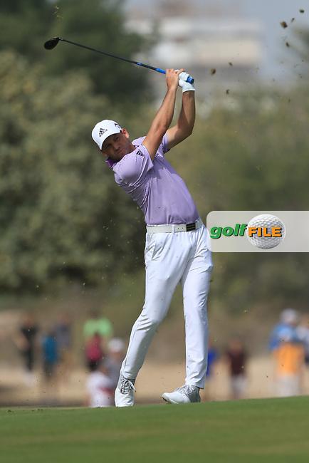 Sergio Garcia (ESP) on the 3rd fairway during Round 2 of the Omega Dubai Desert Classic, Emirates Golf Club, Dubai,  United Arab Emirates. 25/01/2019<br /> Picture: Golffile | Thos Caffrey<br /> <br /> <br /> All photo usage must carry mandatory copyright credit (© Golffile | Thos Caffrey)