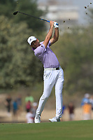 Sergio Garcia (ESP) on the 3rd fairway during Round 2 of the Omega Dubai Desert Classic, Emirates Golf Club, Dubai,  United Arab Emirates. 25/01/2019<br /> Picture: Golffile | Thos Caffrey<br /> <br /> <br /> All photo usage must carry mandatory copyright credit (© Golffile | Thos Caffrey)