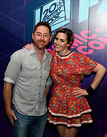 SAN DIEGO COMIC-CON© 2019:  L-R:20th Century Fox Television's AMERICAN DAD Cast Members Scott Grimes and Rachael MacFarlane during the AMERICAN DAD booth signing on Saturday, July 20 at the SAN DIEGO COMIC-CON© 2019. CR: Alan Hess/20th Century Fox Television
