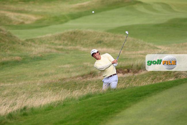 Robert Cannon (Balbriggan) on the 1st during the Quarter Finals of The South of Ireland in Lahinch Golf Club on Tuesday 29th July 2014.<br /> Picture:  Thos Caffrey / www.golffile.ie