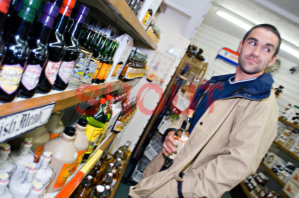 Man stealing Alcohol from local shop..©shoutpictures.com..john@shoutpictures.com