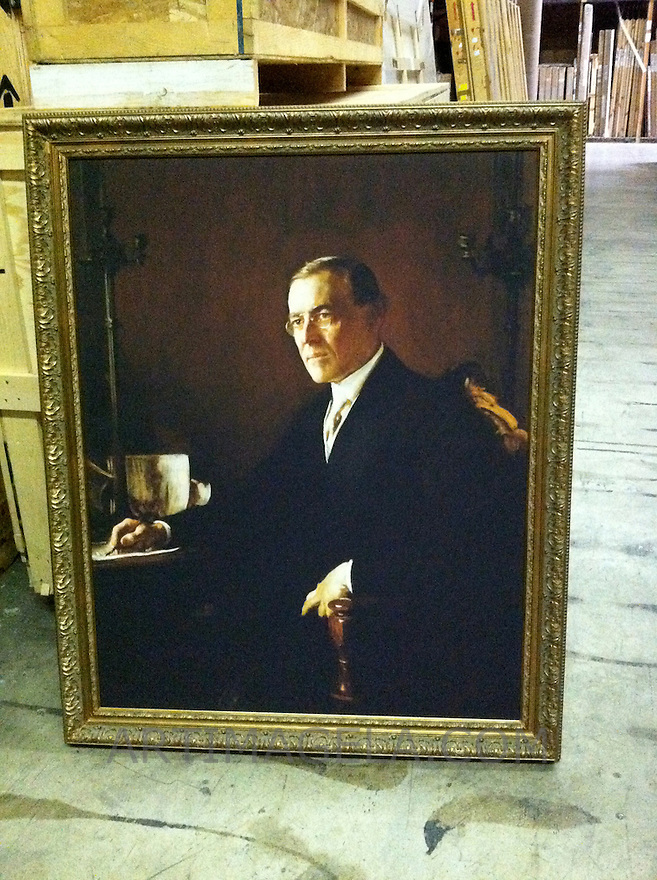 Reproduction of Edmund Charles Tarbell (1862-1938) Thomas Woodrow Wilson (1856-1924), 28th US President. 1921. Oil on canvas, 46 x 36 1/4 in. Location:<br />