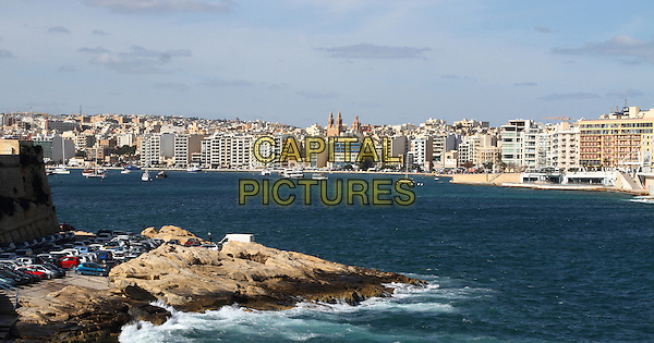 View from the harbour in Valletta, Malta - on Thursday and Friday January 29th and 30th 2015<br /> CAP/ROS<br /> &copy;Steve Ross/Capital Pictures