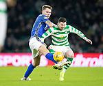 Celtic v St Johnstone&hellip;30.01.19&hellip;   Celtic Park    SPFL<br />Jason Kerr tackles Oliver Burke<br />Picture by Graeme Hart. <br />Copyright Perthshire Picture Agency<br />Tel: 01738 623350  Mobile: 07990 594431