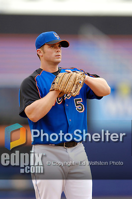 3 April 2006: David Wright, infielder for the New York Mets, warms up prior to the Opening Day game against the Washington Nationals at Shea Stadium, in Flushing, New York. The Mets defeated the Nationals 3-2 to lead off the 2006 MLB season...Mandatory Photo Credit: Ed Wolfstein Photo..