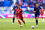 Ali Jaafar Madan of Bahrain (L) in action during the AFC Asian Cup UAE 2019 Group A match between Bahrain (BHR) and Thailand (THA) at Al Maktoum Stadium on 10 January 2019 in Dubai, United Arab Emirates. Photo by Marcio Rodrigo Machado / Power Sport Images