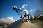 Pix: Shaun Flannery/sf-pictures.com....COPYRIGHT PICTURE>>SHAUN FLANNERY>01302-570814>>07778315553>>..23rd April 2008...........Skateboarder Scott Mellor (10) at the Sprotbrough Skate Park.