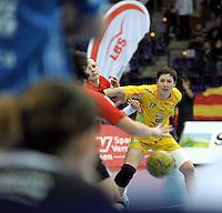 Handball Frauen / Damen  / women 1. Bundesliga - DHB - HC Leipzig : Frankfurter HC - im Bild: Wachsam - Anne Müller in der Defensive . Foto: Norman Rembarz .