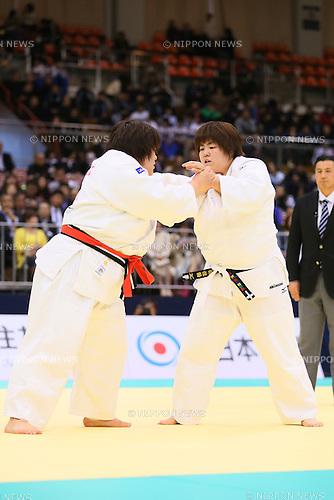 (L-R) Megumi Tachimoto, Kanae Yamabe,<br /> APRIL 6, 2014 - Judo : <br /> All Japan Selected Judo Championships <br /> Women's +78kg <br /> at Fukuoka Convention Center, Fukuoka, Japan. <br /> (Photo by Yohei Osada/AFLO SPORT)