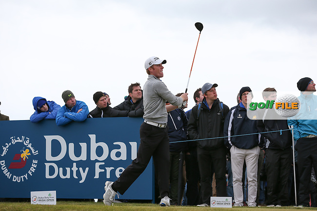 Andrew Dodt (AUS) drives from the 8th tee during Round Three of the 2015 Dubai Duty Free Irish Open Hosted by The Rory Foundation at Royal County Down Golf Club, Newcastle County Down, Northern Ireland. 30/05/2015. Picture David Lloyd | www.golffile.ie