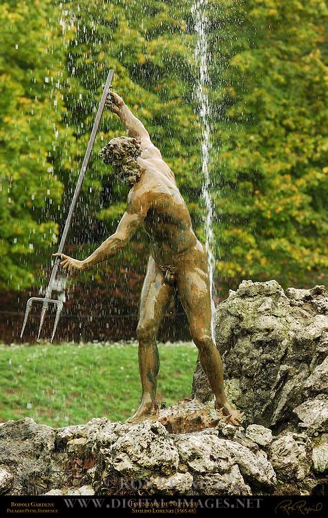 Neptune Fountain of Neptune Lorenzi Boboli Gardens