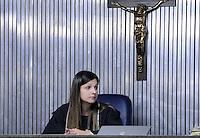 Santo Andre, SP,14 FEVEREIRO 2012-f A juíza Milena Dias durante o segundo dia de julgamento de Lindemberg Alves, acusado de matar a ex-namorada Eloá Pimentel em 2008, no Fórum de Santo André, no Grande ABC, na manhã desta terça-feira (14). A expectativa é de que todo o processo dure três dias. (FOTO: ADRIANO LIMA - NEWS FREE).