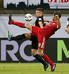 12.08.2018, Commerzbank - Arena, Frankfurt, GER, Supercup, Eintracht Frankfurt vs FC Bayern M&uuml;nchen , <br />DFL REGULATIONS PROHIBIT ANY USE OF PHOTOGRAPHS AS IMAGE SEQUENCES AND/OR QUASI-VIDEO.<br />im Bild<br />Luka Jovic (Frankfurt), Javi Mart&iacute;nez (M&uuml;nchen)<br /> <br /> Foto &copy; nordphoto / Bratic