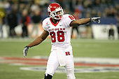 January 5th, 2008:  Rutgers wide receiver Kenny Britt (88) checks with the official during the second quarter of the International Bowl at the Rogers Centre in Toronto, Ontario Canada...Rutgers defeated Ball State 52-30.  ..Photo By:  Mike Janes Photography